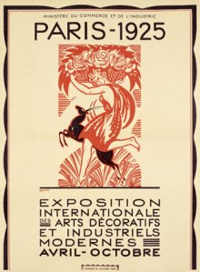 Robert Bonfils poster advertising the Paris Exposition Internationale Des Arts of 1925