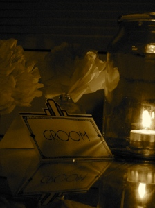 Place card & candle