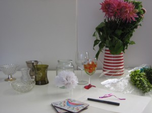 Vases, Flowers & assorted other