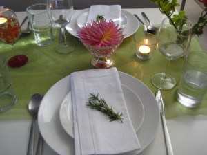 Two place settings