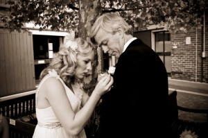 bridesmaid & dad