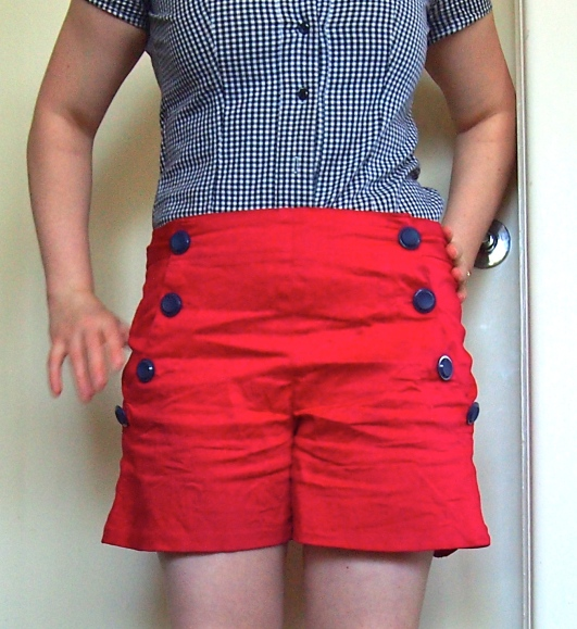 Red Sailor Shorts