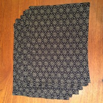 Shashiko-print cotton placemats