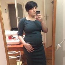 Bronte + MN maternity skirt mashup
